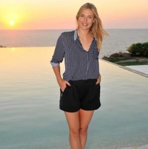 Maria Sharapova images captured at Acapulco.