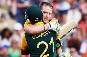Miller and Duminy slammed hundreds against Zimbabwe in 2015 world cup.