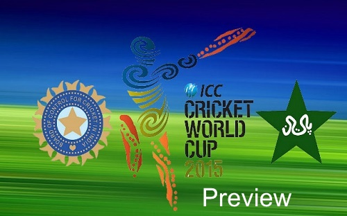 Pakistan vs India 2015 world cup preview and predictions.