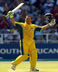 Ricky Ponting scored ton in 2003 cricket world cup final.