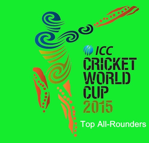 Top all-rounders of ICC cricket world cup 2015.