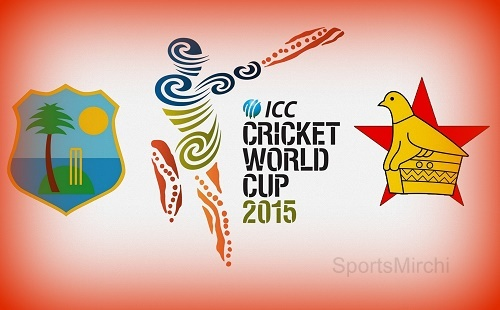 West Indies vs Zimbabwe 2015 cricket world cup live streaming and score.