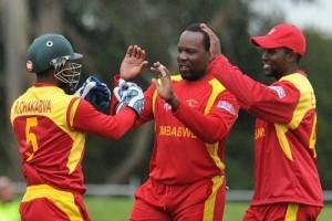 Zimbabwe beat Sri Lanka in warm up 2015 world cup.