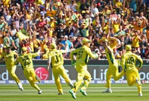 Australia beat New Zealand in 2015 world cup final to clinch title.