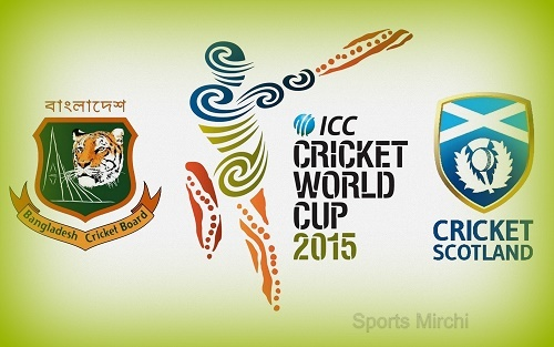 Bangladesh vs Scotland 2015 world cup Live stream, score, preview.