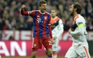Bayern Munich thrashed Shakhtar by 7-0 to reach UCL Quarter-finals.