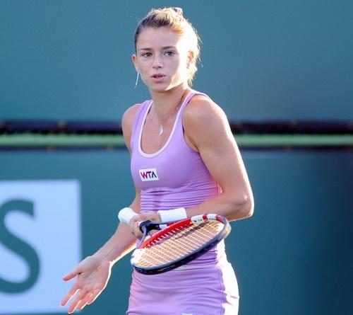 Camila Giorgi vs Heather Watson live streaming, score 2015 Indian Wells.