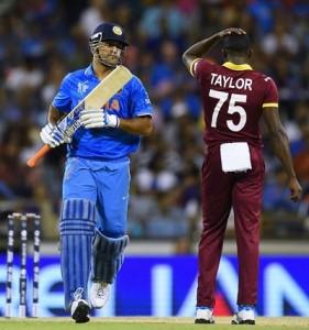 Dhoni confirmed India's 4th successive win in 2015 world cup.
