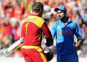 Indian players congratulated Brendan Taylor after his hundred in last ODI.