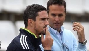 Michael Vaughan asks Pietersen to leave IPL for England.
