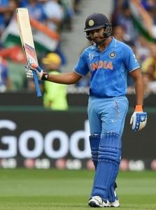 Rohit Sharma slams first world cup ton in quarter-final 2015.