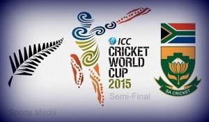 SA vs NZ Semi-Final Live Streaming, Telecast, Score 2015 world cup.