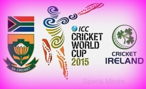 South Africa vs Ireland world cup 2015 live streaming, score and preview.