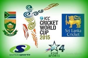 Sri-Lanka vs South Africa Live Streaming, Telecast QF-1 cwc15.