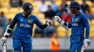 Thirimanne, Sangakkara hundreds beat England by 9 wickets at cwc15.