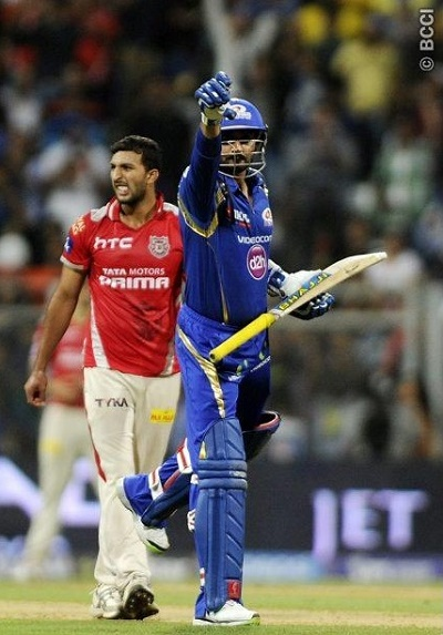 Harbhajan won hearts but Mumbai was defeated against KXIP.
