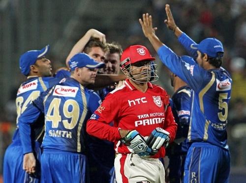 Rajasthan Royals beat Kings XI Punjab by 26 runs at IPL 2015.