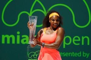Serena Williams wins Miami Open title eighth time.