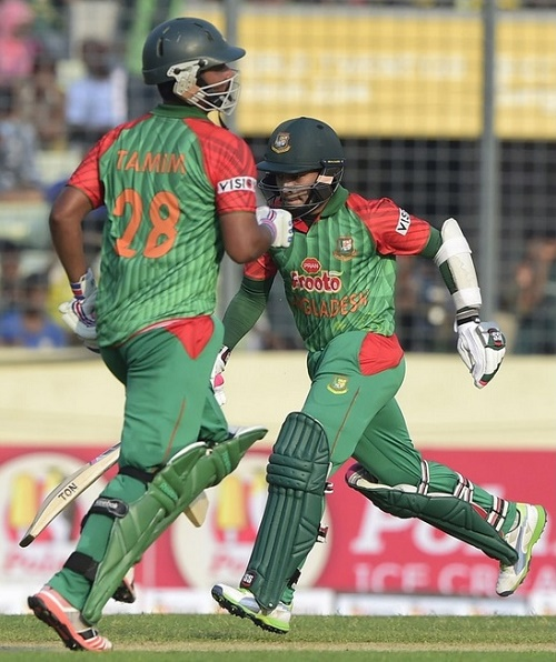 Tamim, Rahim tons guide Bangladesh to beat Pakistan in first ODI.