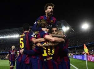 Barcelona FC beat Bayern Munich in Champions League semi-final first leg.