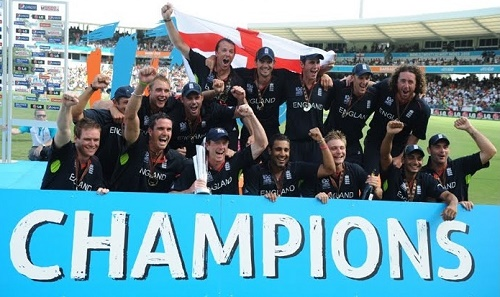 England won T20 World Cup in 2010.