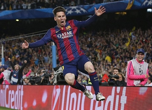 Messi scores twice as Barcelona win champions league semi-final first leg.
