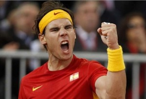 Nadal Receives Gold Medal from Spanish PM Mariano Rajoy.