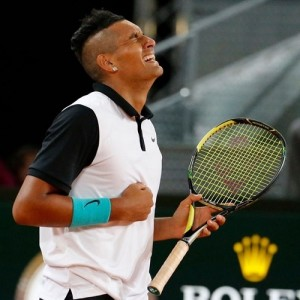 Nick Kyrgios knocked out Roger Federer from Madrid Open.
