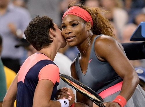 Serena Williams vs Carla Suarez Live telecast Madrid quarterfinal 2015.