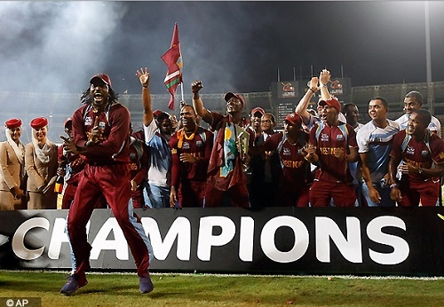 West Indies won T20 World Cup in 2012.