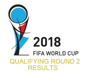 2018 FIFA World Cup Russia Qualifier Round-2 Results.
