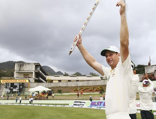 Australia beat West Indies by 9 wickets in 1st Test at Dominica.