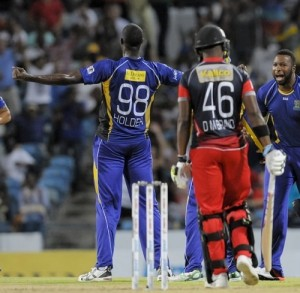 Barbados Tridents beat Trinidad in the 5th match of 2015 CPL.
