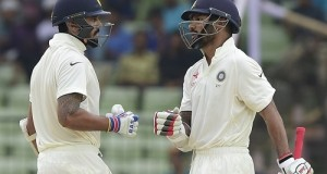 India vs Bangladesh Test 2015 Day-1 report: Dhawan hits 150*