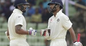 India vs Bangladesh Test 2015 Day-1 report: Dhawan hits 150*