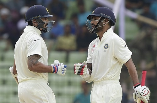 India vs Bangladesh Test 2015 Day-1 report: Dhawan hits 150*.