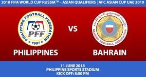 Philippines vs Bahrain Live Streaming, Telecast, Score 2015