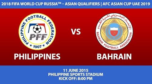 Philippines vs Bahrain Live Streaming, Telecast, Score 2015.