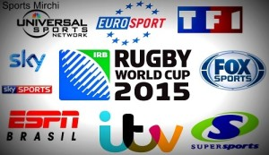 2015 Rugby World Cup Live Telecast, Coverage, TV Channels list.