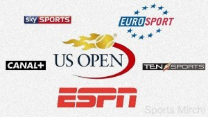 2015 US Open Live Telecast, Broadcast, TV Channels Listing.