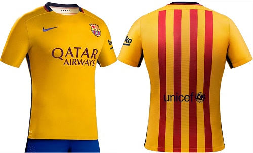 official photos f2603 534ea FC Barcelona 2015-16 Kit for home and away La-Liga fixtures ...