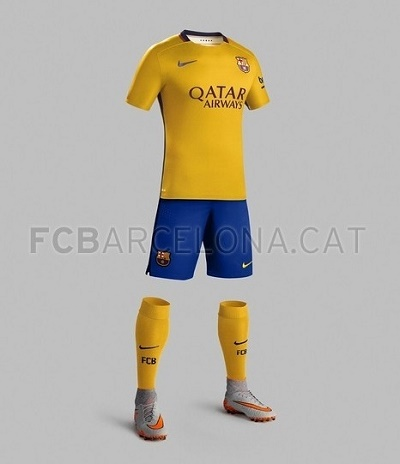 Barcelona 2015-16 away shorts jersey and socks