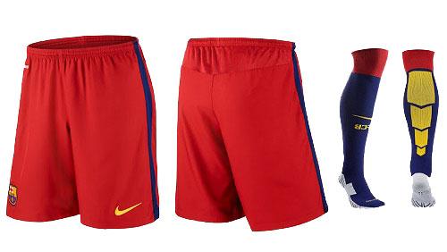 Barcelona 2015-16 home kit shorts and socks.