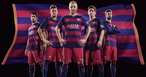 FC Barcelona 2015-16 Kit for home and away La-Liga fixtures