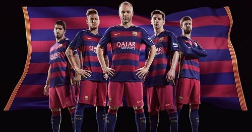 FC Barcelona 2015-16 home kit.