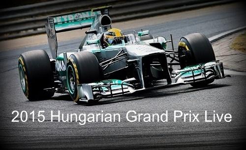 How to watch 2015 Hungarian Grand Prix Live Stream, Telecast