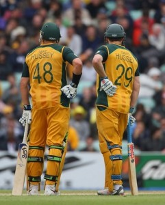 Hussey brothers won ODI match for Australia on 10 February 2009.