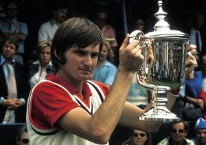 Jimmy Connors won US Open titles on Grass, Clay and hard courts.