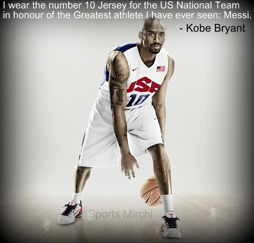 Kobe Bryant quotes on Lionel Messi.