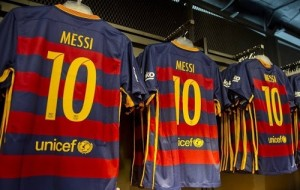 Messi jersey kit 2015-16 for FC Barcelona.